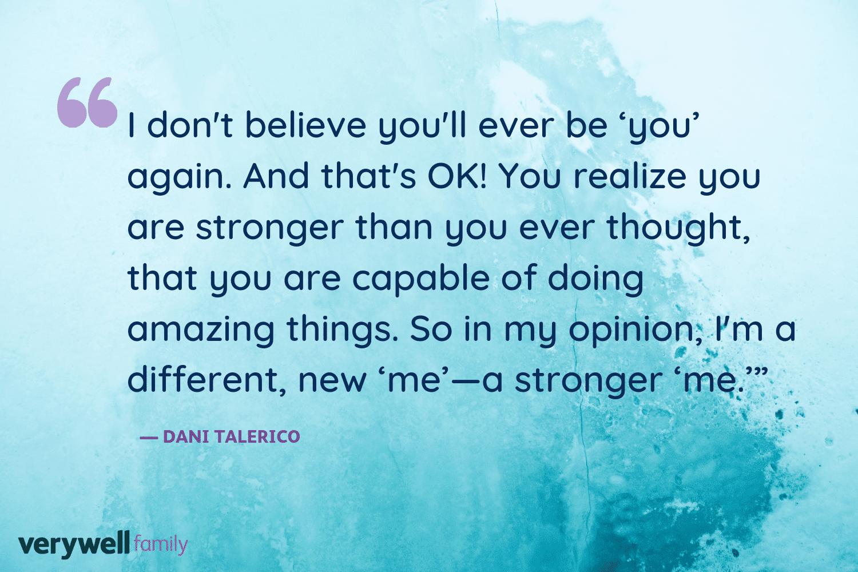 Verywell Family postpartum quote by Dani Talerico