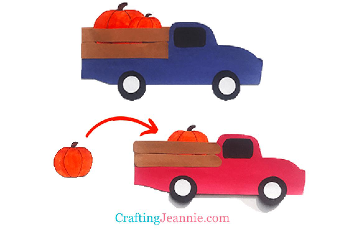 Pumpkin arrow trucks craft