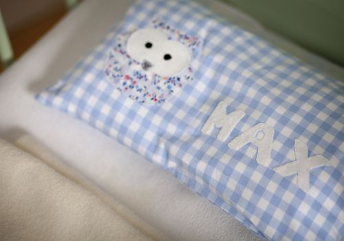 baby pillow embroidered with name