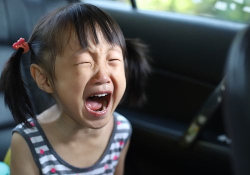 young child screaming