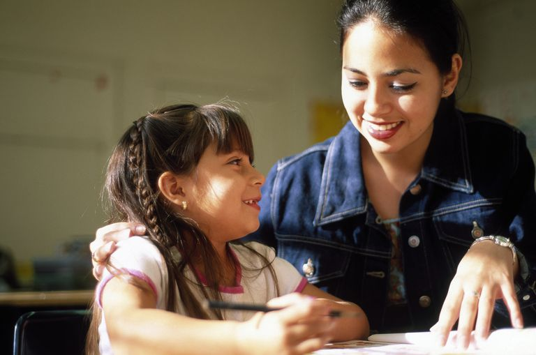 After school tutoring; girl with tutor