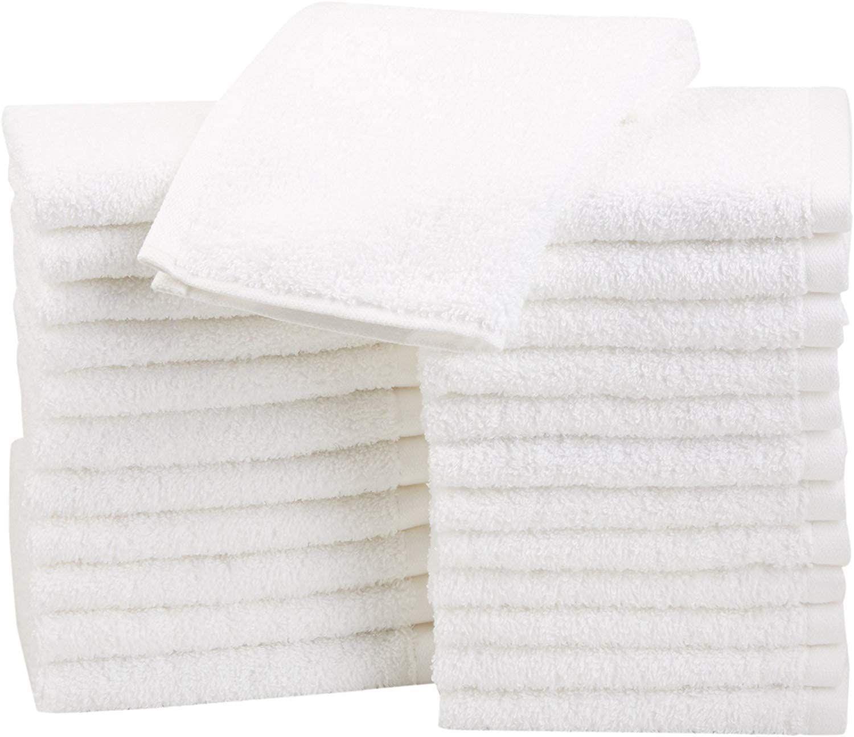Amazon Basics Terry Cotton Washcloths