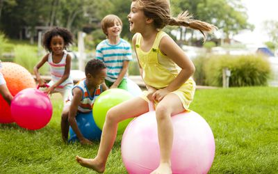 kids' spring party - active party games for kids