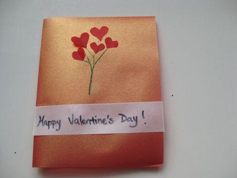 handmade vellum paper Valentine card