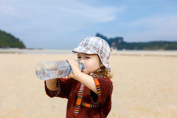 boy drinking