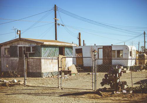 trailer park in the desert