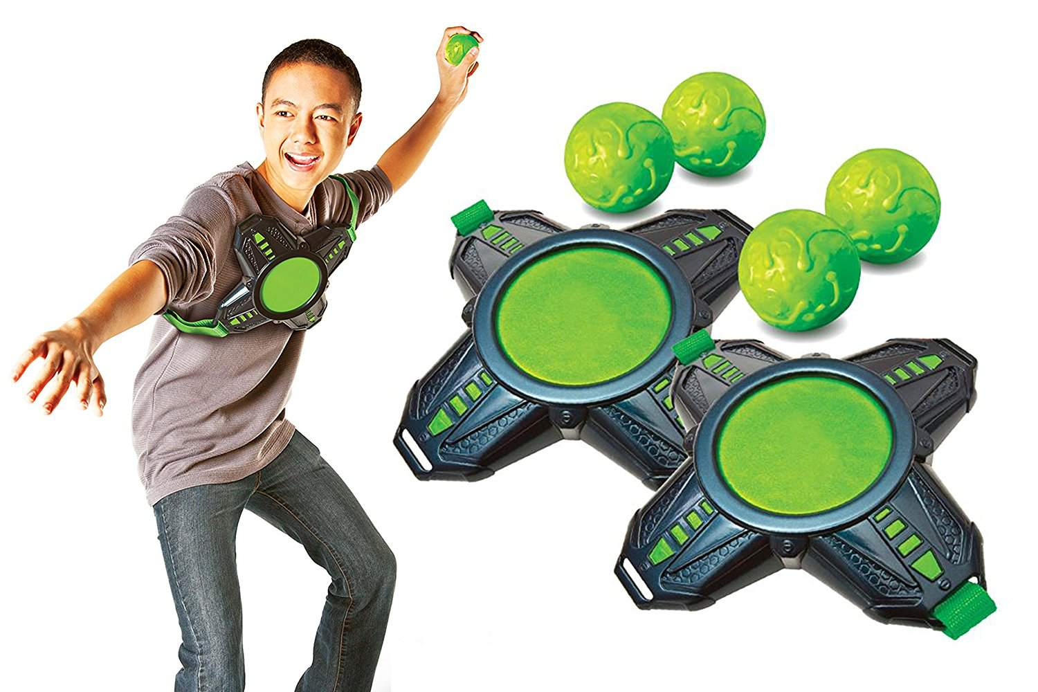 Product shot for slimeball with kid and game pieces - Top Outdoor Toys For Active Play