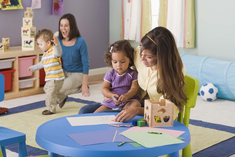 Teachers and toddlers in daycare