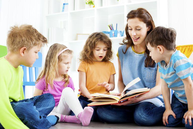 Teacher Telling A Story to children.