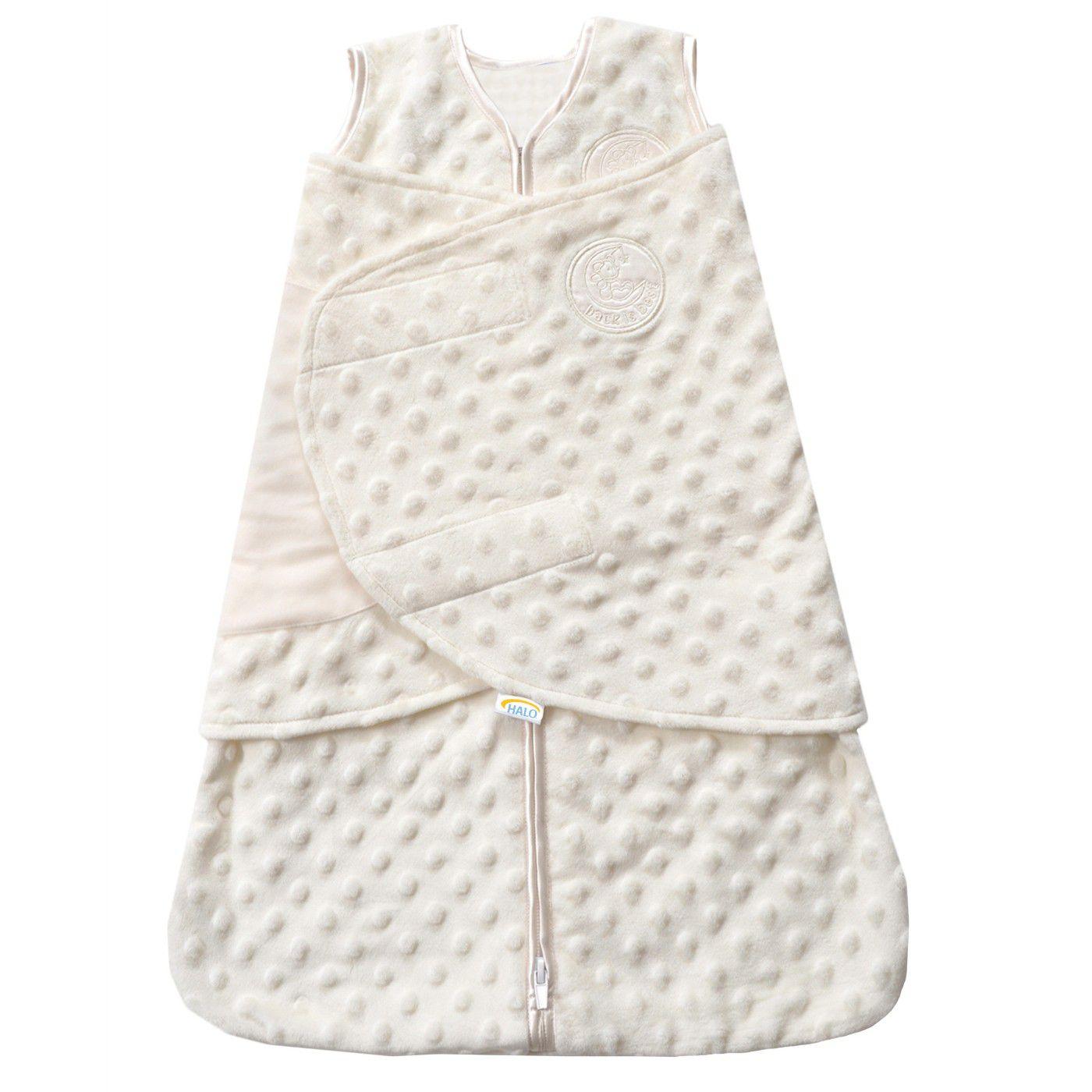 HALO® Sleepsack® Plushy Dot Velboa Swaddle - NB