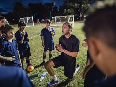 Soccer Team Meeting
