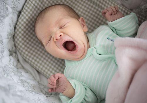 a yawning baby