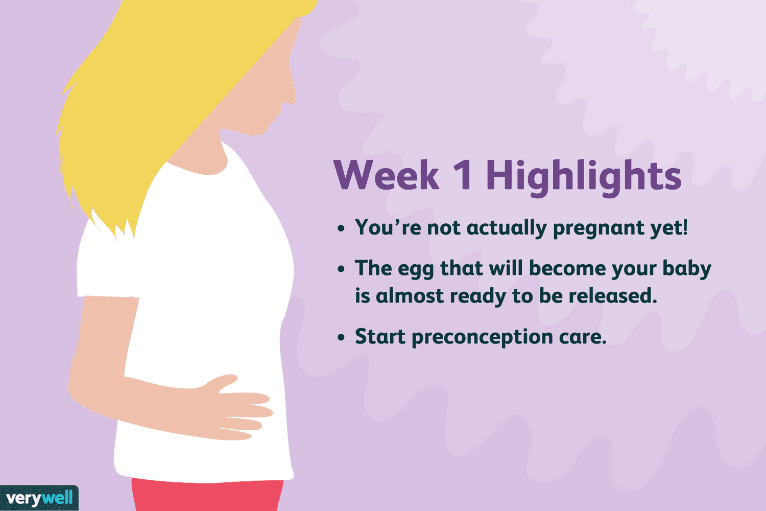 1 Week Pregnant: Symptoms, Baby Development, and More