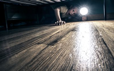 Most kids are afraid of monsters under the bed.