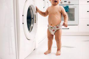toddler in training pants