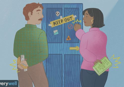 drawing of parents knocking on kid's door
