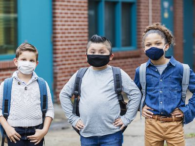 kids wearing masks
