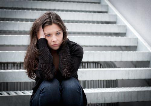 Upset high school student