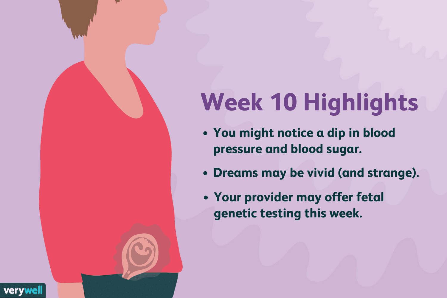 10 Weeks Pregnant: Baby Development, Symptoms, and More