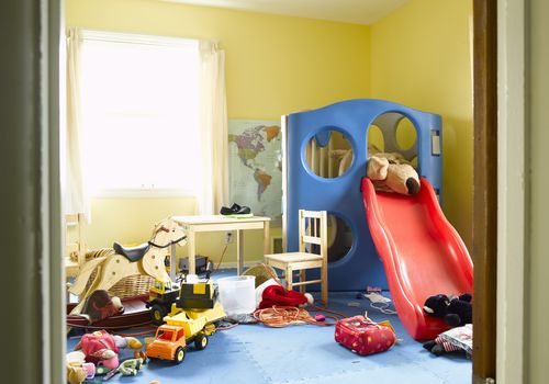 teach your child to clean up toys
