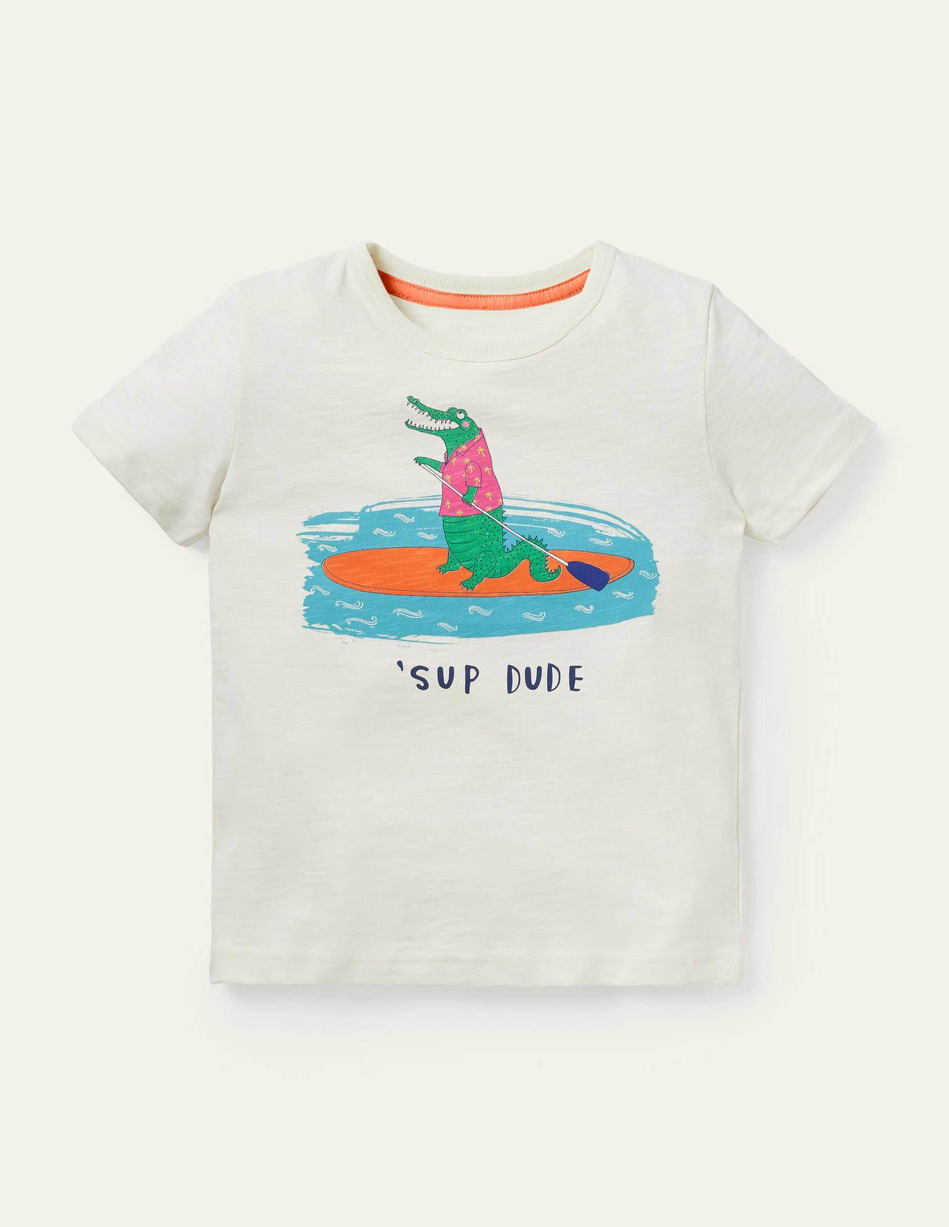 Graphic T-Shirt Ivory Sup Dude