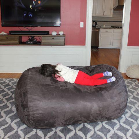 Three Posts Teen Large Bean Bag Sofa Review, Big Bean Bags For Living Room