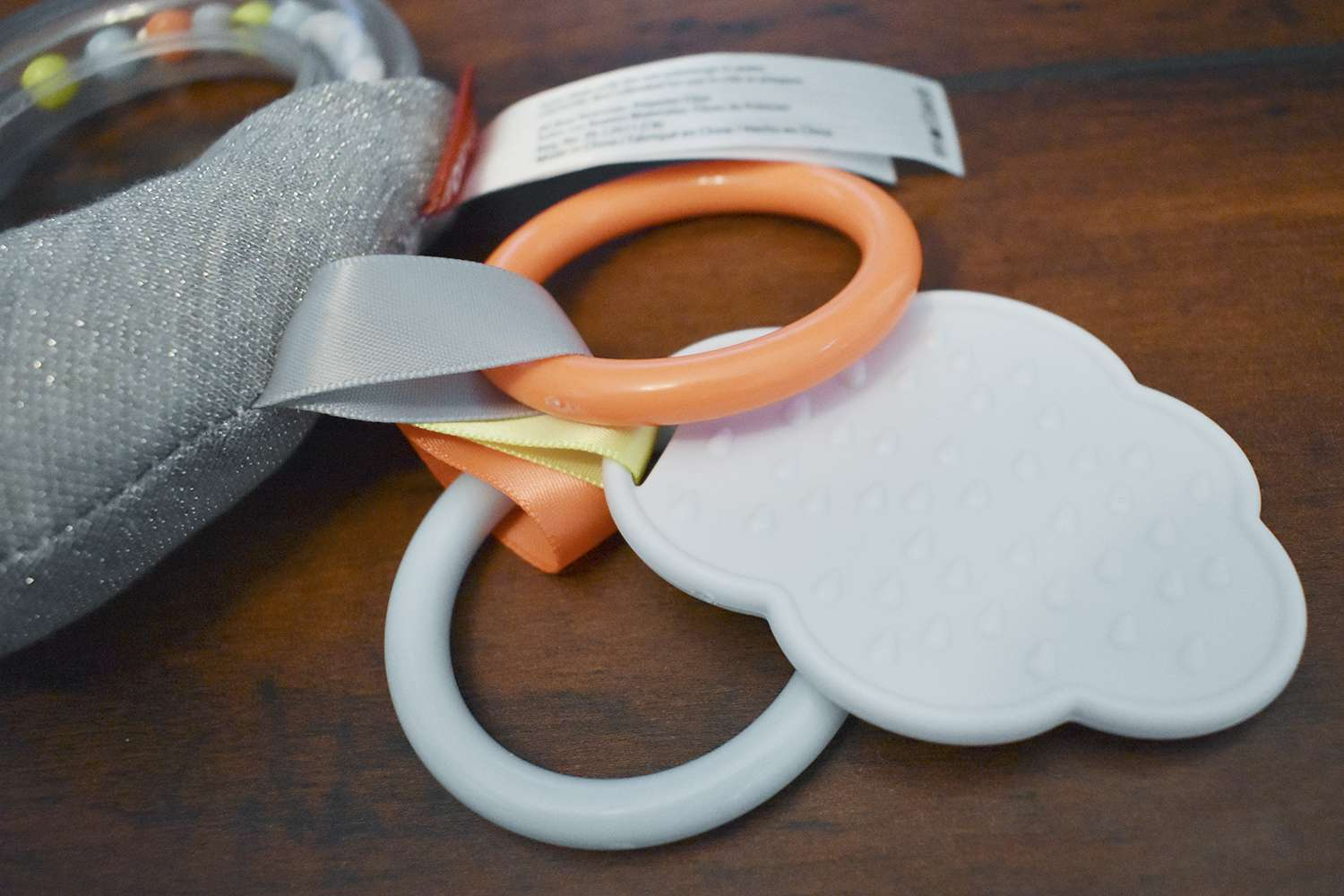 Skip Hop Silver Lining Cloud Rattle Moon Stroller Baby Toy