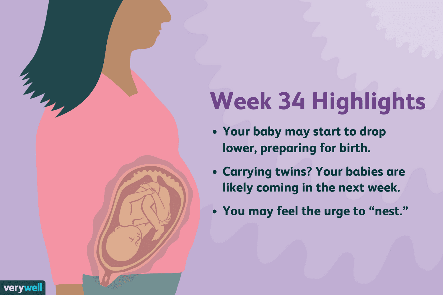 34 Weeks Pregnant: Symptoms, Baby Development, and More