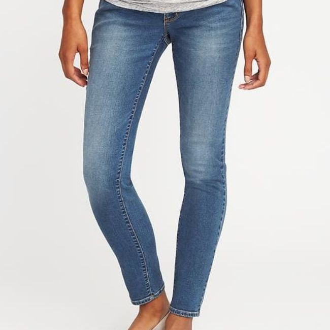cf2ef65f057 Best Overall  Maternity Premium Full Panel Rockstar Jeans. old-navy -maternity-jeans