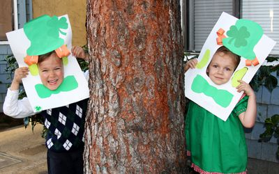 Children Celebrating St Patricks Day