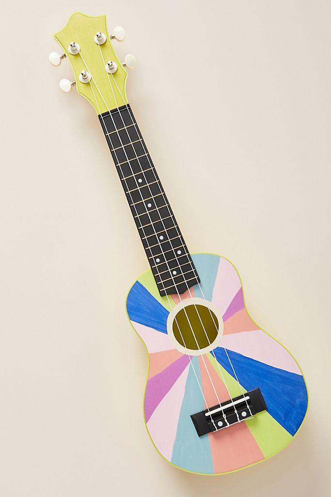 Anthropologie Guitar Wooden Toy