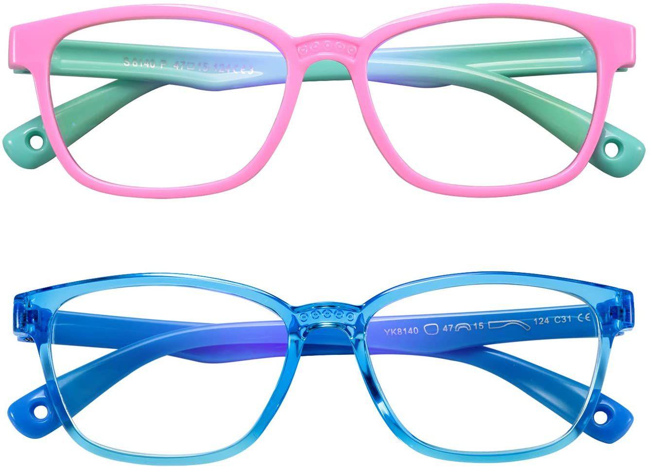 AHXLL Kids Blue Light Blocking Glasses