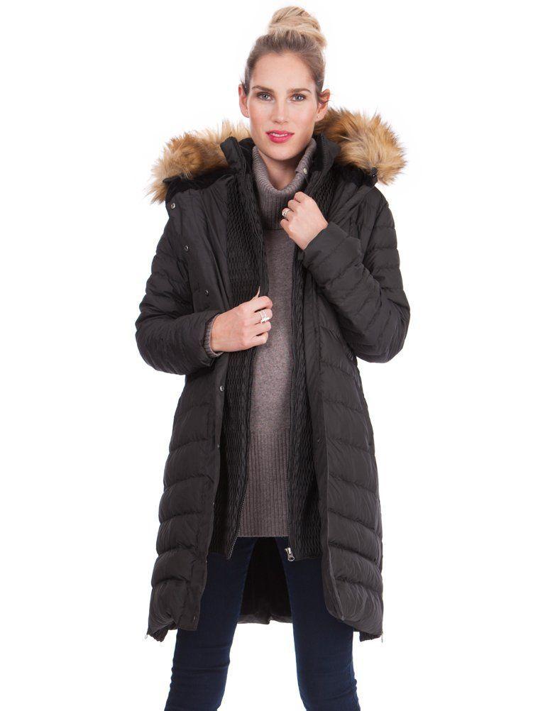 Seraphine Super-Warm Maternity Down Coat