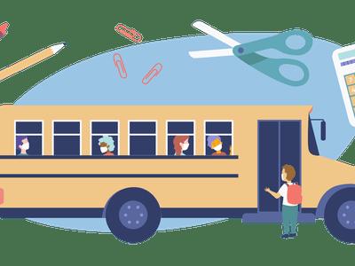 Illustration of schoolbus