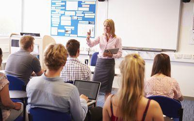 Teacher instructed class