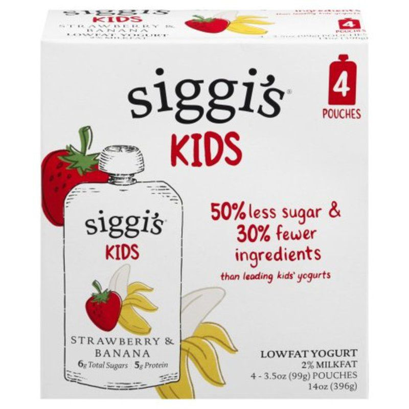 Siggi's strawberry banana pouch