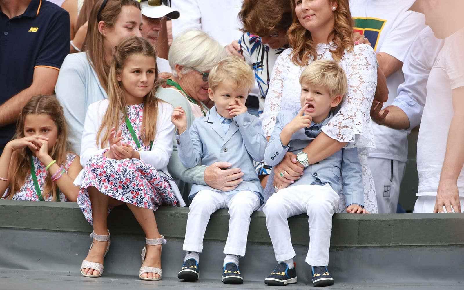 Roger Federer two sets of twins