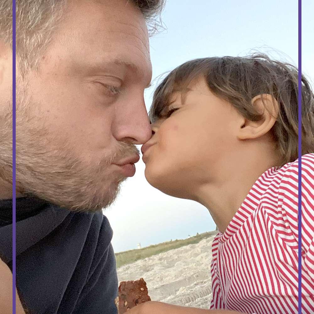 Ariel Foxman and child