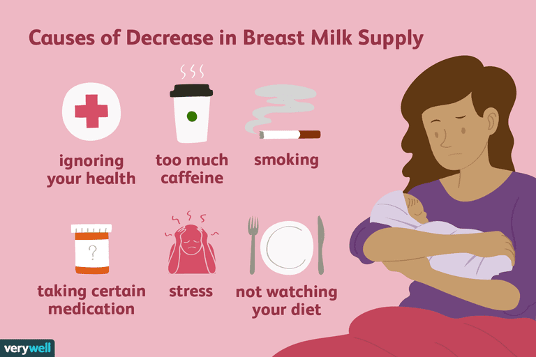 causes of decreasing breast milk supply