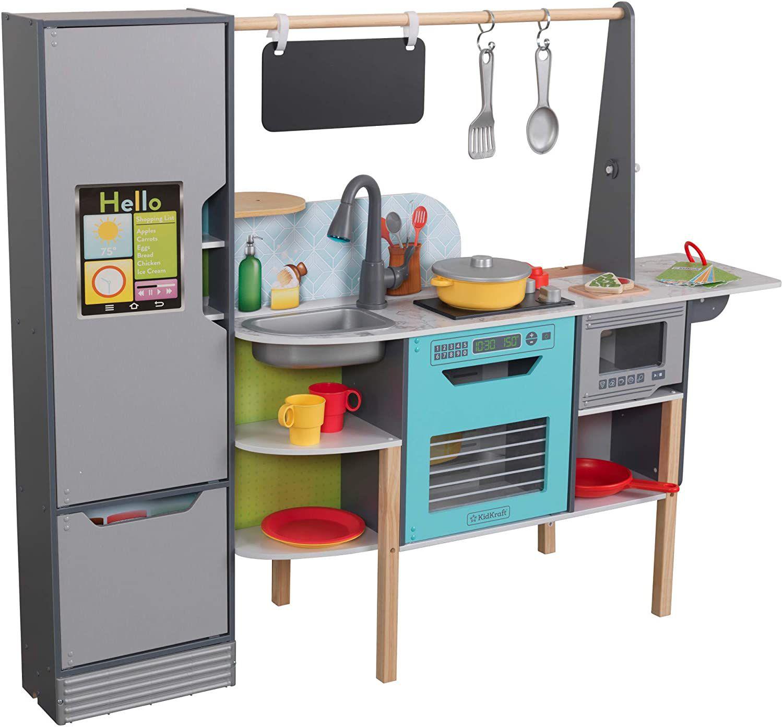 KidKraft Alexa-Enabled 2-in-1 Wooden Kitchen