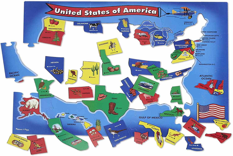 Melissa & Doug USA 51-Piece Floor Puzzle