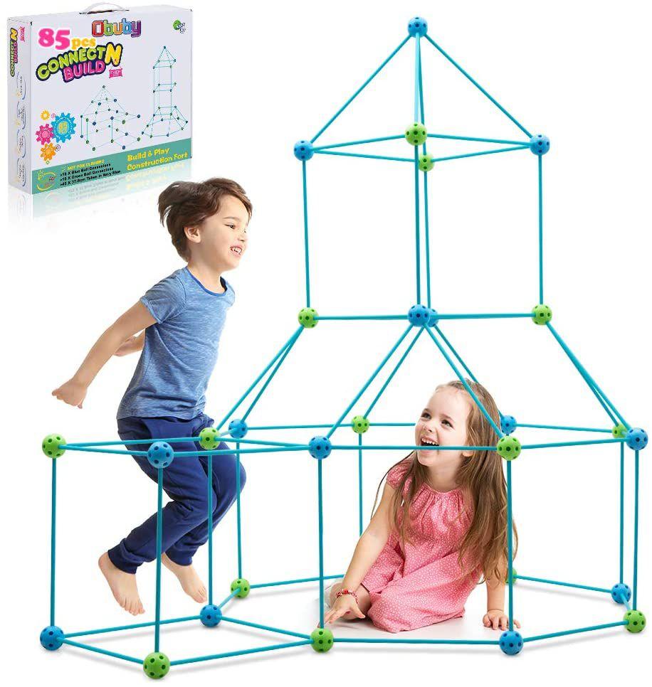 Obuby Connect N Build Kids Fort Building Kit