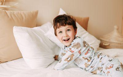 kid in pajamas