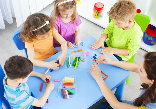 Preschool: Preschoolers Craft Activities with playdo