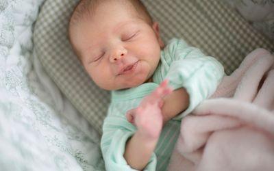 New born baby boy sleeping