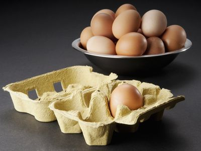 Picture of eggs in a bowl and one egg left in carton, metaphor for ovarian reserves