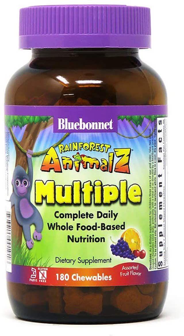 Bluebonnet Rainforest Animalz Multiple Chewable