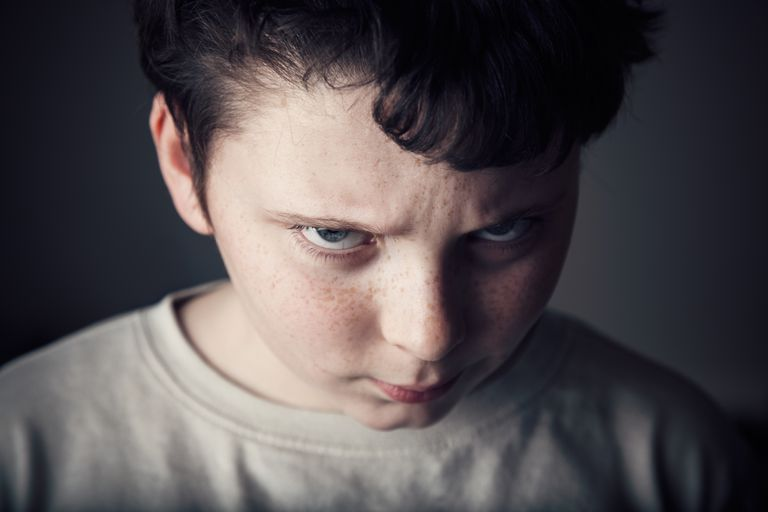 An angry child may be covering up hurt with aggression.