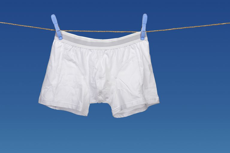 White underwear on a string