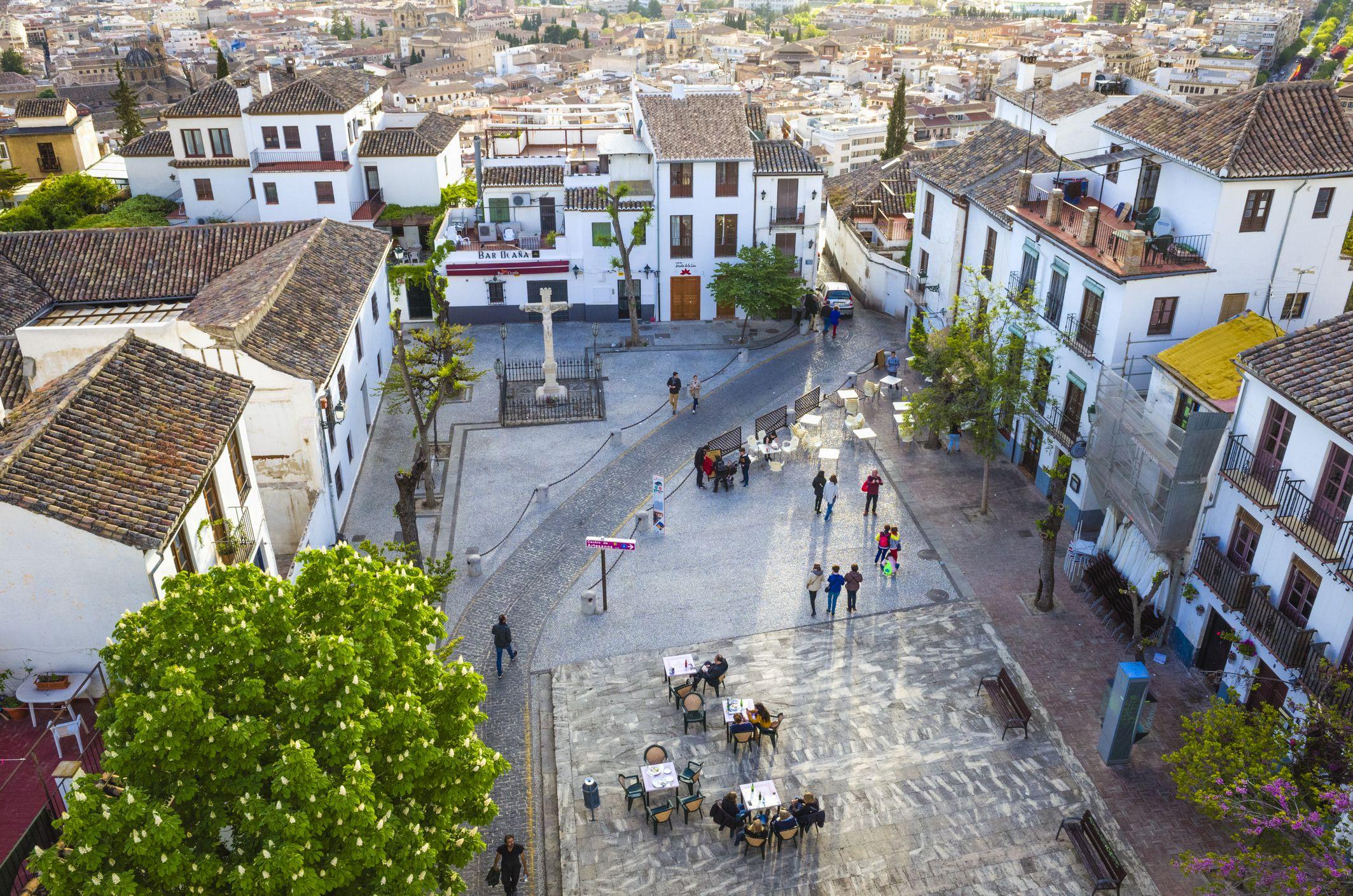 Albaicin district old town Granada